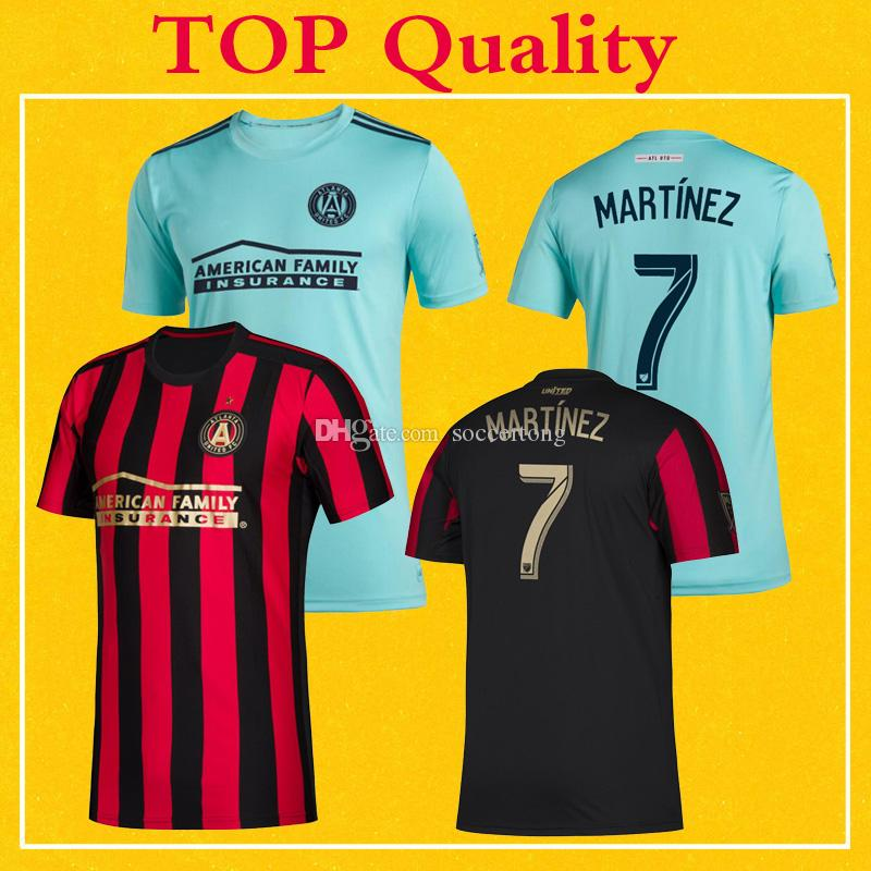 best service a64fd 5ddeb Parley Atlanta United Jerseys MLS 2019 Soccer Shirt Home Red Stripes  MARTINEZ Top Quality More 10pcs Free DHL Shipping
