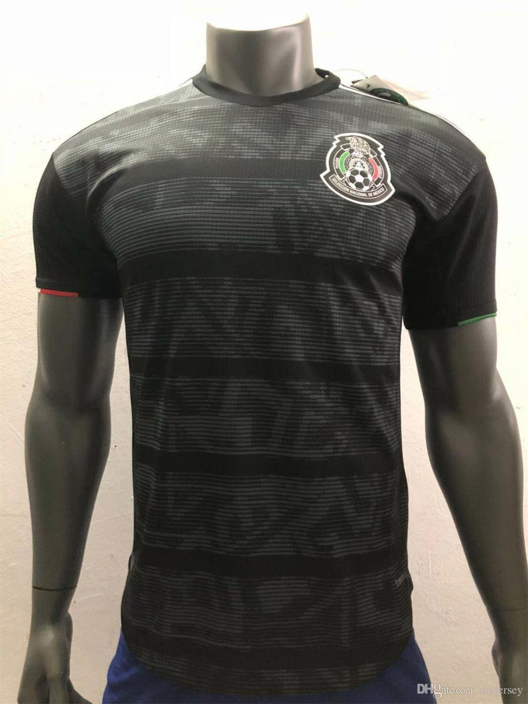 5986122e468 2019 Player Version 2019 Mexico Black Soccer Jersey Gold Cup Mexico Home Soccer  Shirt Player Version 2018 World Cup Football Uniform Sales From Myjersey,  ...