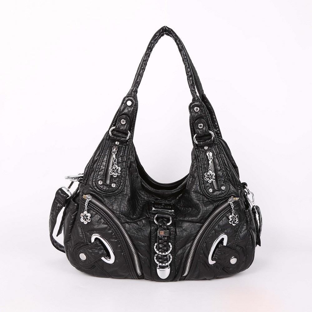 0db2b5287382 Women Shoulder Bag Top-handle Handbag Retro Satchel Soft Tote Bag PU ...