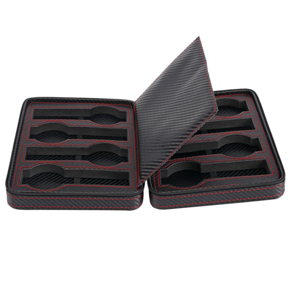 ce8855ab0 2 4 8 Slot / Grid Watch Box Carbon Fiber Leather Zipper Portable ...