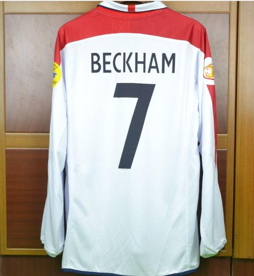 ff6ff0f564f 2019 England 2004 David Beckham Vintage Calcio MAGLIA Retro 04 Owen Rooney National  Team Soccer Jersey Classic Camiseta Maillot From Bestsoccerclub