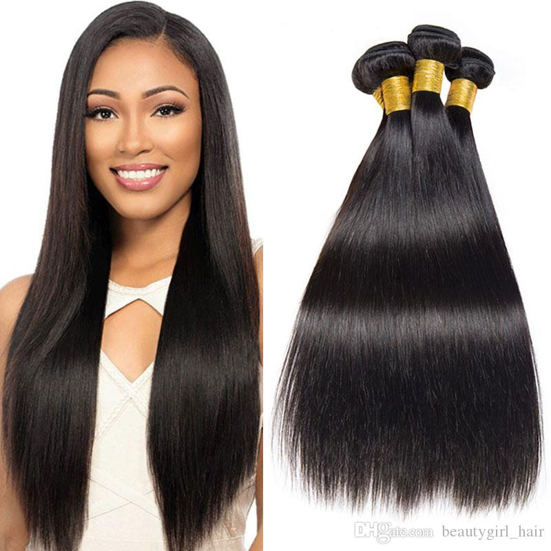 3 Bundles Straight Brazilian Hair Weave 7A Unprocessed Virgin Hair  Extensions Natural Black Cheap Brazilian Virgin Hair Extensions For Sale  Human Hair Weave ... 7d988f1fae98