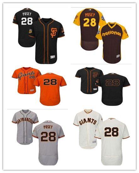 78deacde 2018 can San Francisco Giants #28 Buster Posey Jerseys  men#WOMEN#YOUTH#Men's Baseball Jersey Majestic Stitched Professional  sportswear