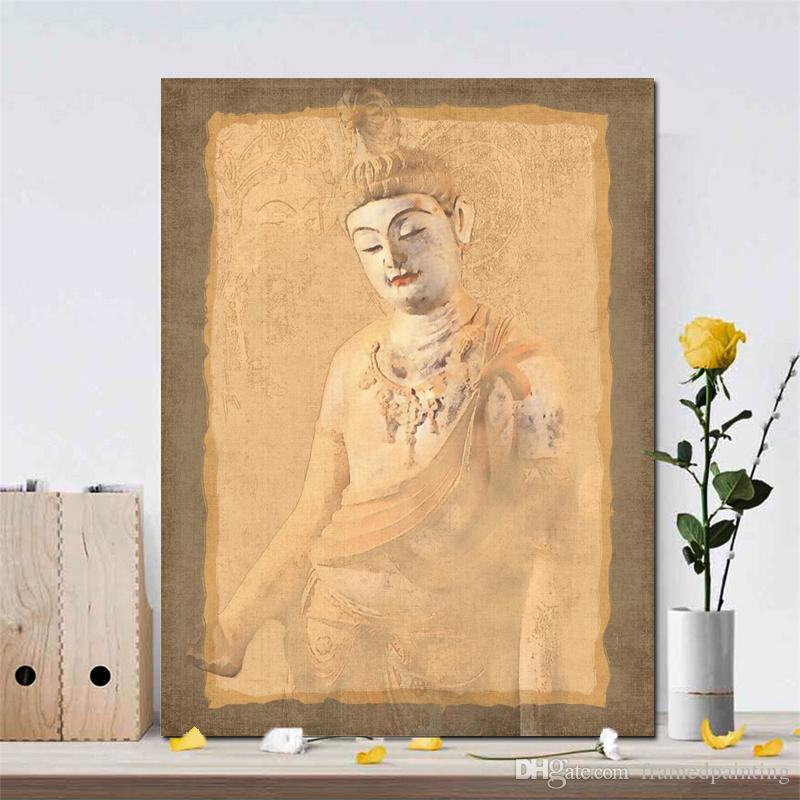 1 Pcs Beautiful Murals Posters and Prints Wall Art Painting on Canvas Buddha Decorative Pictures for Living Room Home Decor No Frame