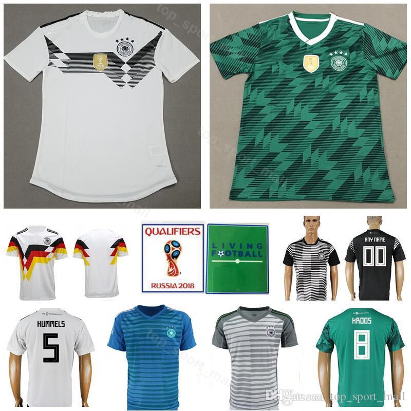 8d3756b21 2019 2018 World Cup Germany Soccer Jersey Men 1 NEUER 5 HUMMELS 9 WERNER 8  KROOS 14 GORETZKA 21 GUNDOGAN Football Shirt Kits Uniform From  Top sport mall