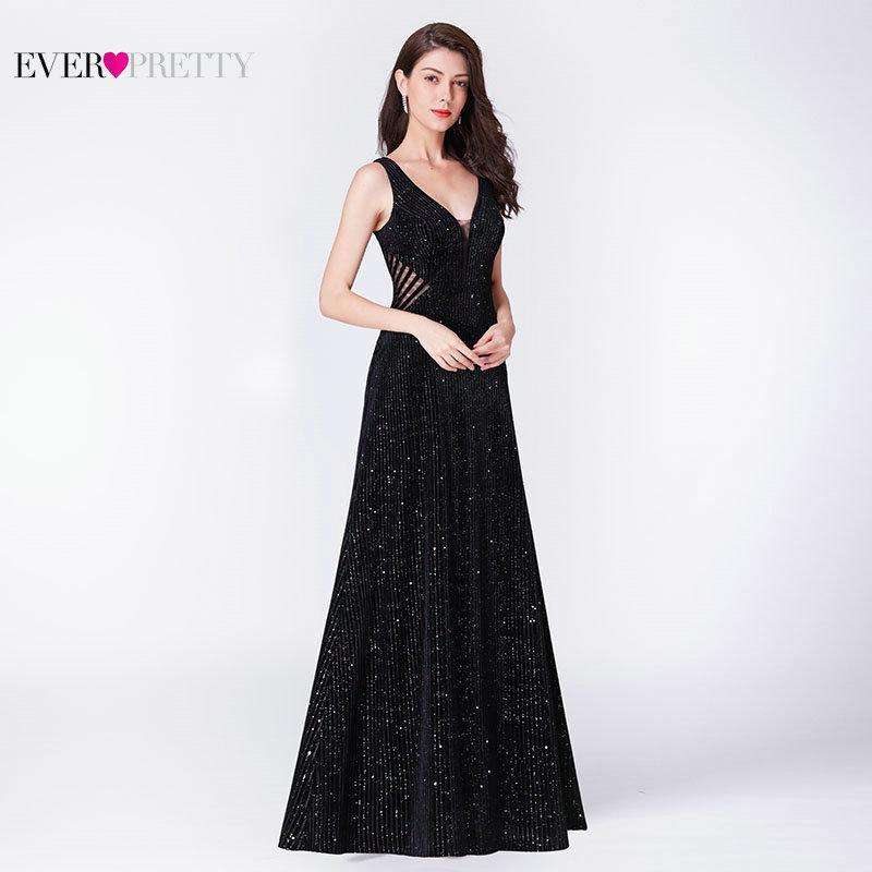 51425504d4006 Robe De Soiree Little Mermaid Evening Dress 2019 Ever Pretty Ep07439bk  Elegant Illusion V Neck Backless Black Formal Party Gowns Y190525