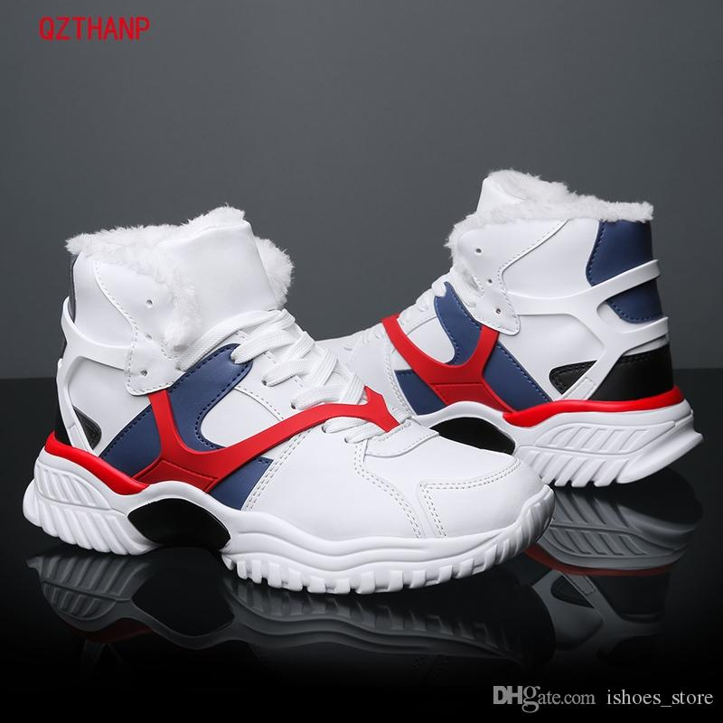 6e1949650be1e2 2018 Winter Men Trainers Sneakers Casual Shoes Men Breathable Mesh Shoes  Fashion Lace Up With Fur Male Air Cushion Male Footwear #54276 Mens Casual  Shoes ...