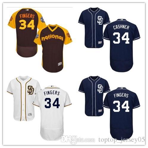 the latest 97563 23830 2018 can San Diego Padres Jerseys #34 Rollie Fingers Jerseys  men#WOMEN#YOUTH#Men's Baseball Jersey Majestic Stitched Professional  sportswear