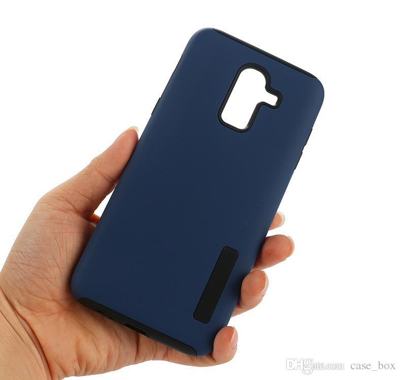 online store c2e54 445a6 Dual Layer 2 in 1 Matte Phone Protective Case Cover for Samsung Galaxy J8  J3 J4 J6 J7 2018 J2 Pro Shockproof Shell