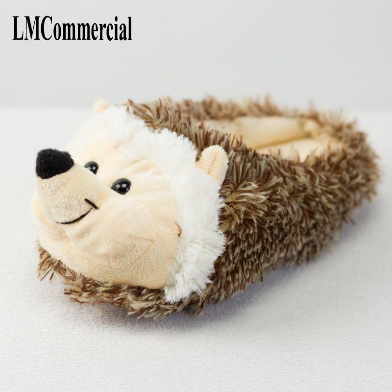 506fc84c5e494c Chinelos Indoor Especial oferta cão personalizado um inverno quente hedgeh  amantes casa chinelos grossos sapatos de fundo duro em amantes do chão