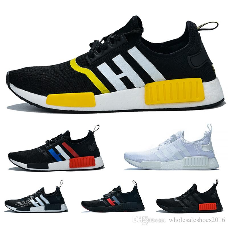 premium selection 15274 37304 NMD R1 Boost Casual Running Shoes For Men Women atmos White Black Yellow  Olive Cheap Designer Trainer Sport Sneaker