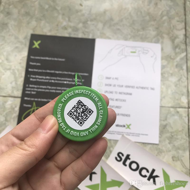 Cheap Drop Stock X OG QR Code Sticker Green Circular Tag Plastic Shoe  Buckle StockX Verified X Authentic Green Tag