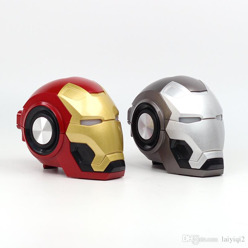 Beliebteste Weihnachtsgeschenke 2019.2019 Beliebte Weihnachtsgeschenk Iron Man Kopf Mini Drahtlose Bluetooth Lautsprecher Boombox Ironman Lautsprecher Cartoon Caixa De Som Altavoz Ducha
