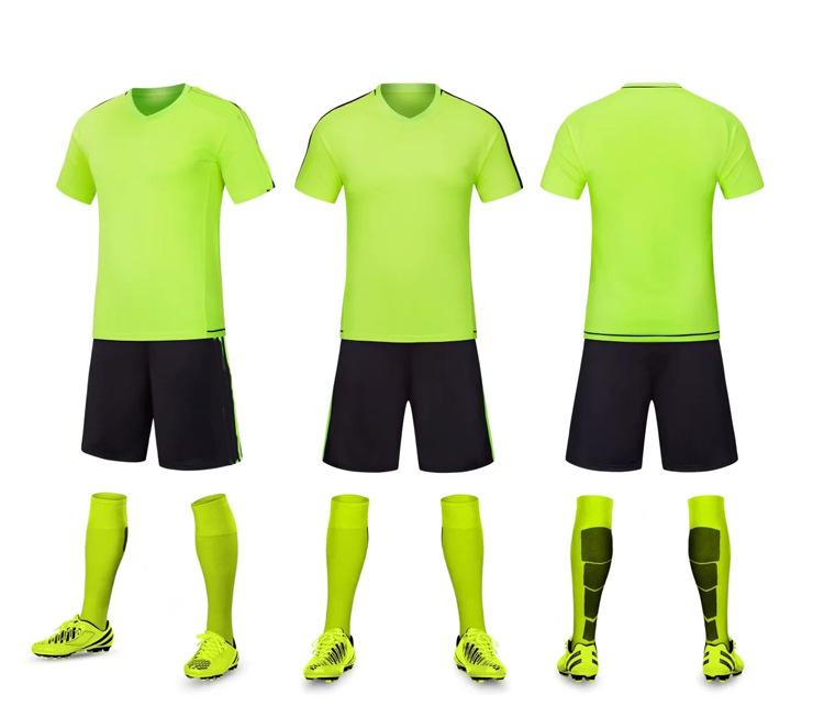 Discount Cheap men Training Football Sets With Shorts Uniforms reversible football jerseys for that home and away look kits Sports C08-01