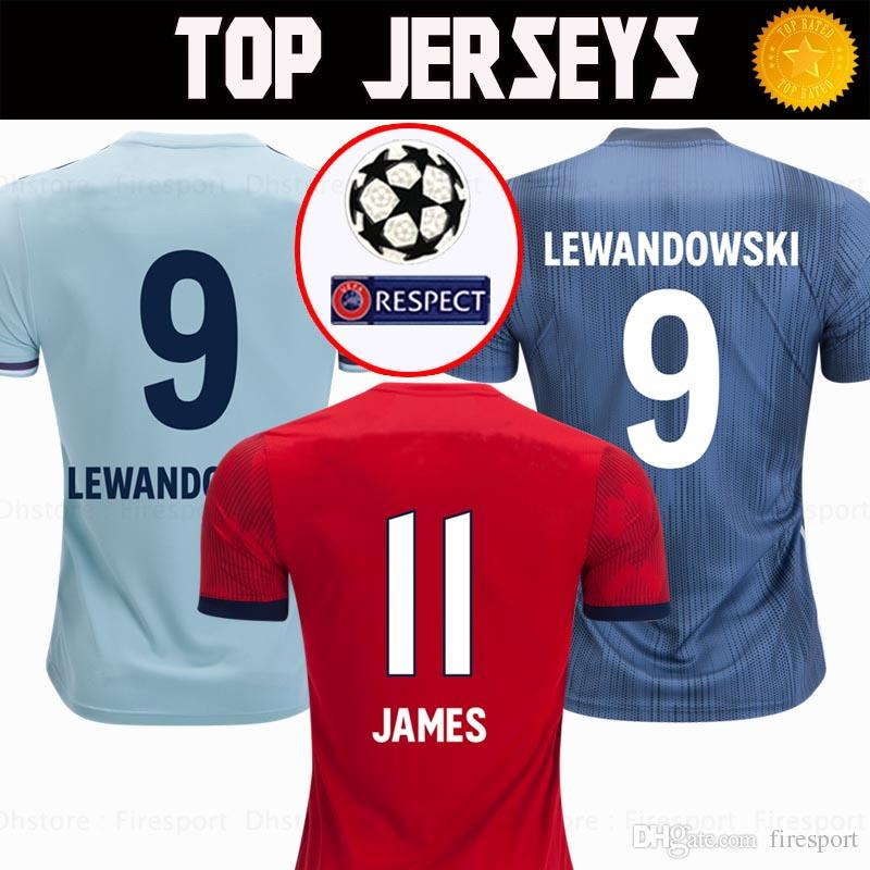 official photos afaf3 46736 TOP Thailand Bayern Munich JAMES RODRIGUEZ Soccer jerseys 2018 2019  LEWANDOWSKI MULLER KIMMICH jersey 18 19 HUMMELS Football shirt uniform