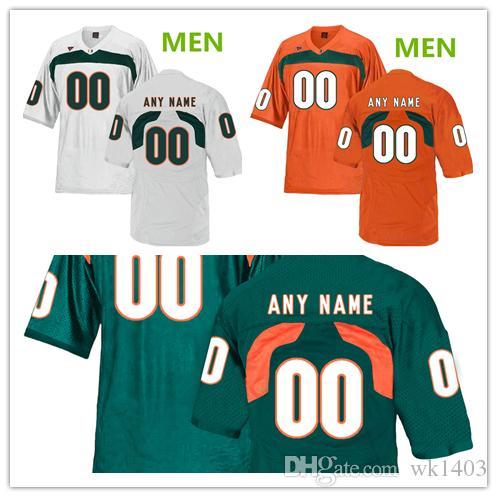 newest e3a23 b364a ncaa Miami Hurricanes Amari Carter 5 Jhavonte Dean 6 Ed Reed 20 camisetas  HOMBRES MUJERES JÓVENES Blanco verde naranja Camiseta de fútbol americano  ...