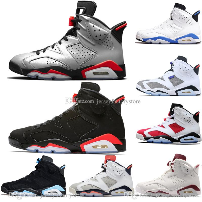 13fa29f3d098 In Stock 2019 Bred 6 6s Mens Basketball Shoes Infrared 23 3M Reflective Bugs  Bunny Tinker Black Cat UNC Men Sport Sneakers Designer Trainers Jordans ...