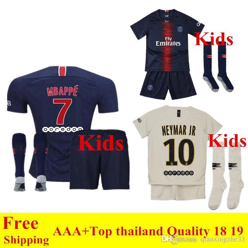 56a89251b4eb0 2019 2018 2019 Psg Kids Kit MBAPPE Soccer Jersey Paris Saint Germain Jersey  Shirs 18 19 Home Away Survetement CAVANI Child Football Kit From  Qianxingzhe33, ...