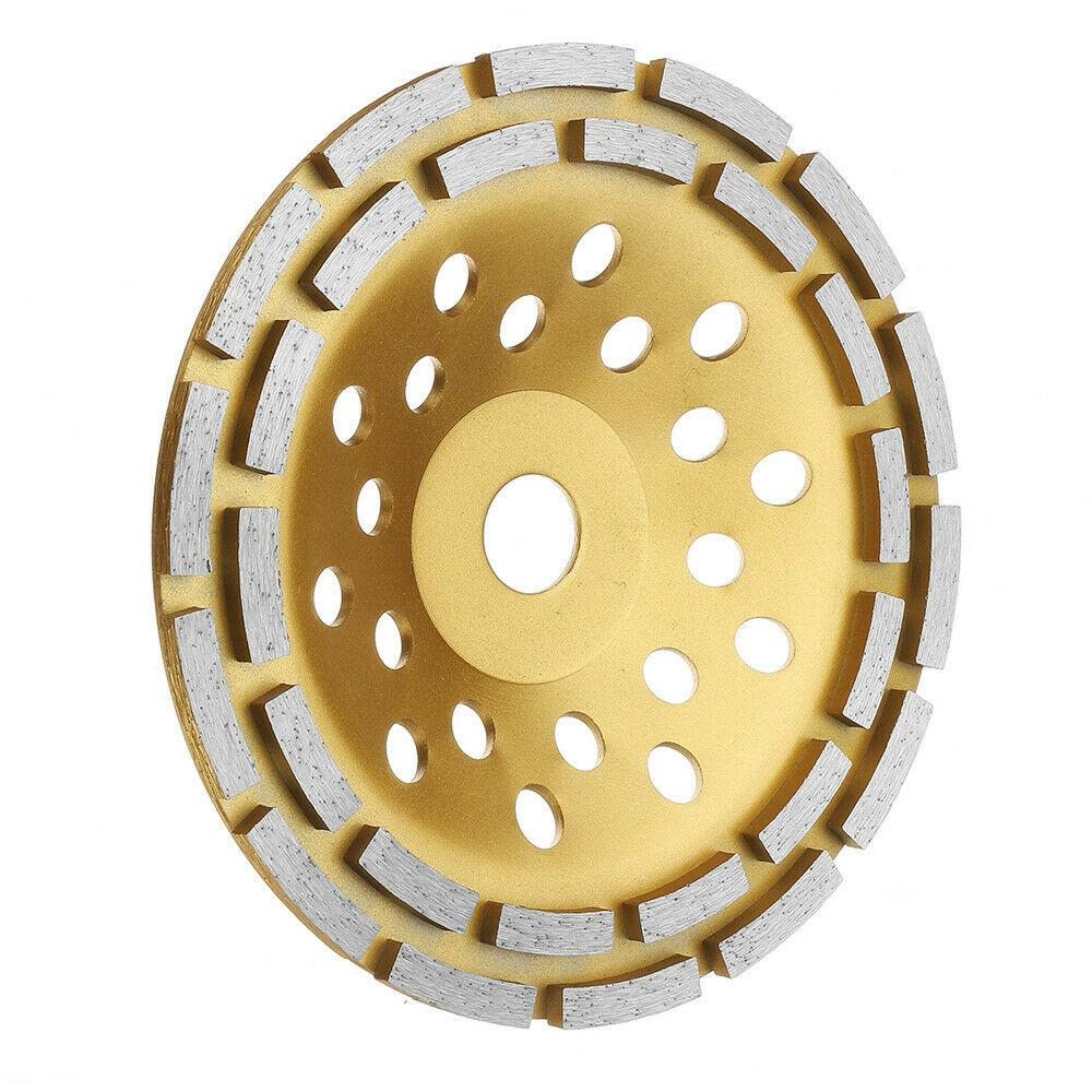Segment Grinding Wheel Tool Double Row Diamond Round Sanding Disc Concrete Gold