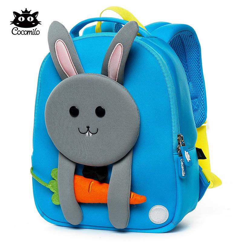 Cocomilo Brand Blue 3D Cartoon Rabbit Schoolbag Kindergarten Animal Kids  Backpack Child School Bags Toddler Girls Boys Backpacks Sports Bags Bags  For Men ...