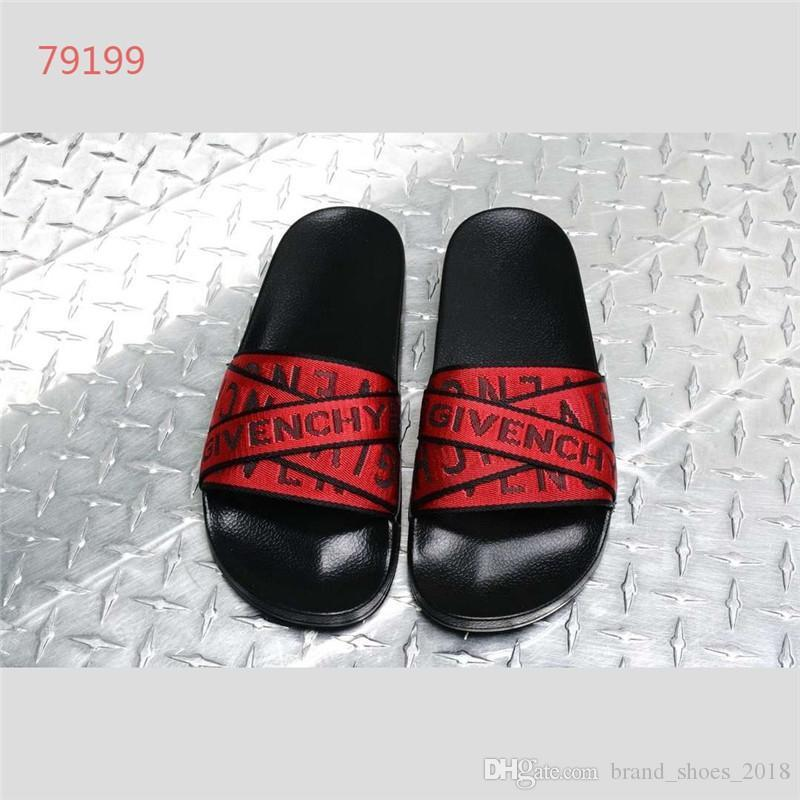 ca17c7fab 2019 Male Slippers Sandals Fashion Design Leisure Slip On Real ...