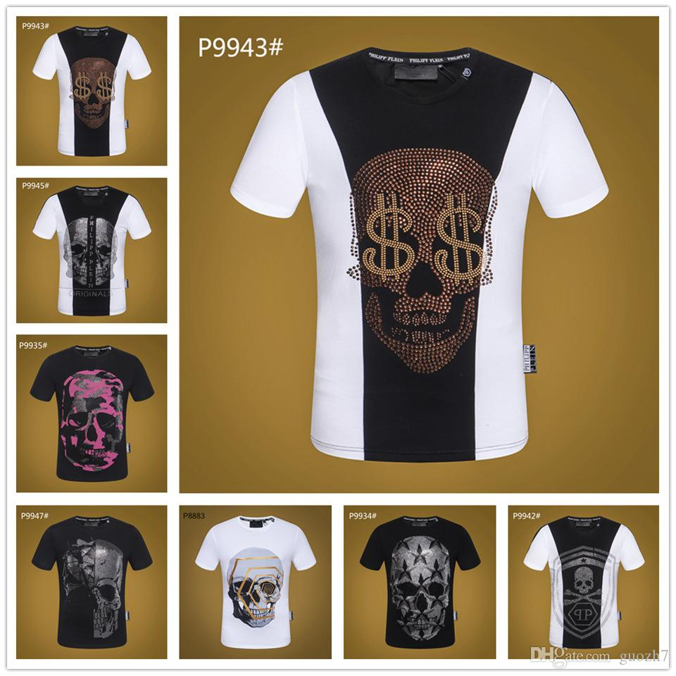 Punk Hombre 2019 Calavera Cuello Impresión Redondo Nuevas Fumar Hop Hip Camisetas Tshirts 3d Fresca Manga Corta Camiseta dQtrsh
