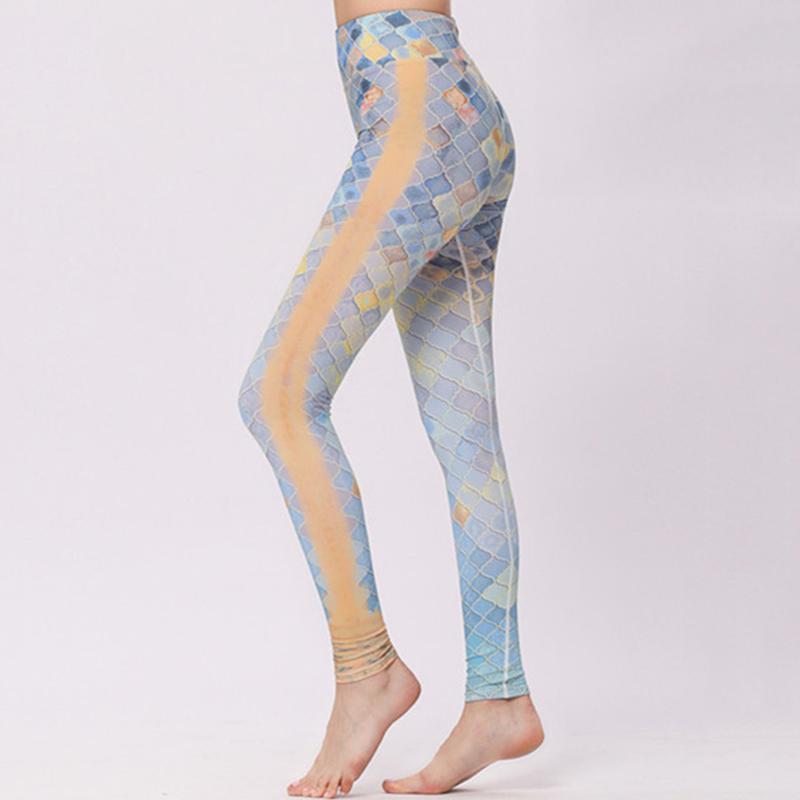 edf1b65a95967 New Women Tight Sports Yoga Pants High Elastic Print Quick Dry ...