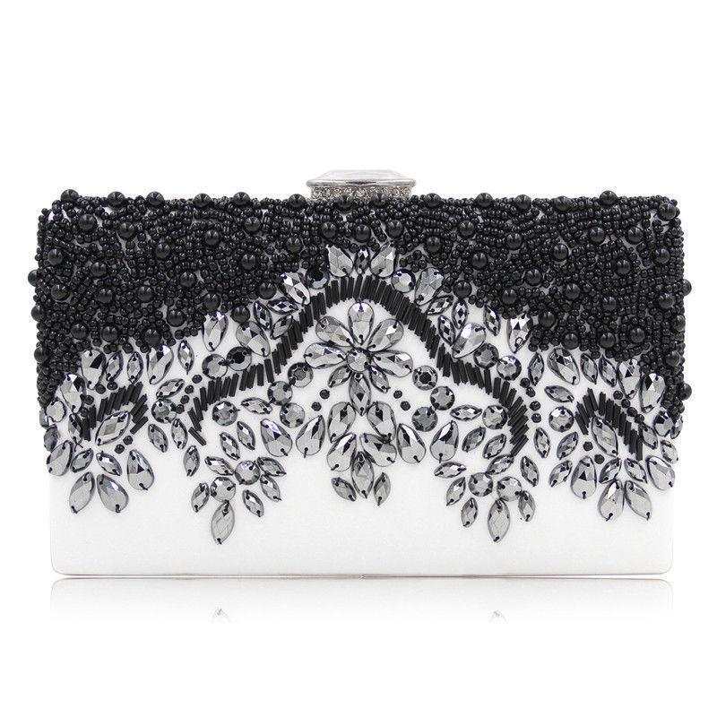 2019 European American Style Women Evening Party Bag Ladies Clutch Beaded Phone Bags Bride Wedding Clutches Handbag Bolsas Mujer