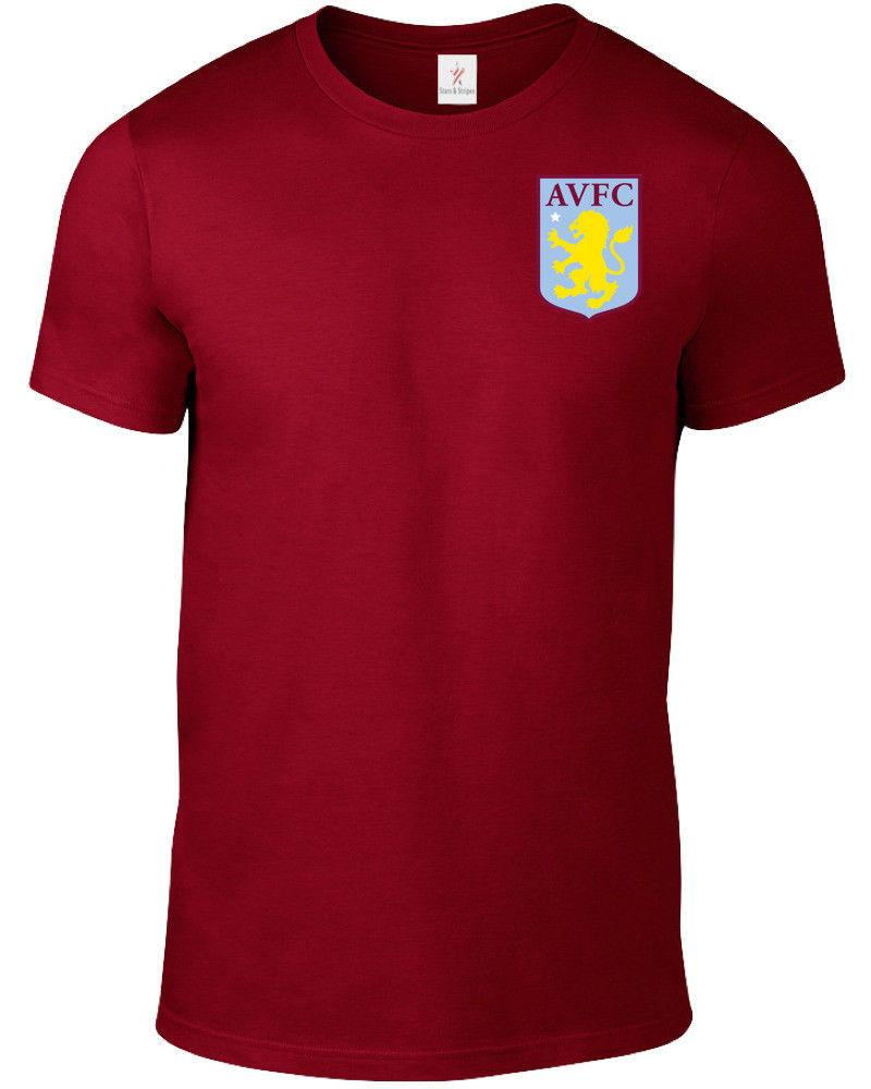 2a1d095cfd4 ASTON VILLA F.C. T SHIRT FOOTBALL SOCCER PLUS SIZES S 5XL TEE FC21.1 Funny  Unisex Casual A T Shirts Fun T Shirts Online From Fastshipdirect