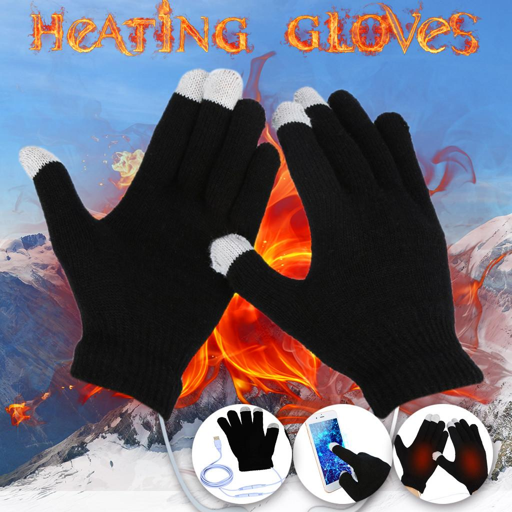 e4d484740b3 2019 Warm Ultra Soft USB Hand Heating Gloves Constant Temperature Portable  Soft Knitting Wool Wearable Gloves Winter 2S0109 From Jutie