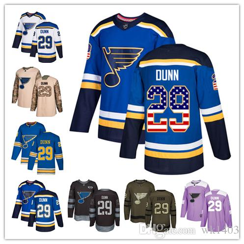 competitive price 802a4 2da84 St. Louis Blues jerseys #29 Vince Dunn Jersey hockey men women youth royal  blue home white away Navy Blue Alternate Premier Jerseys