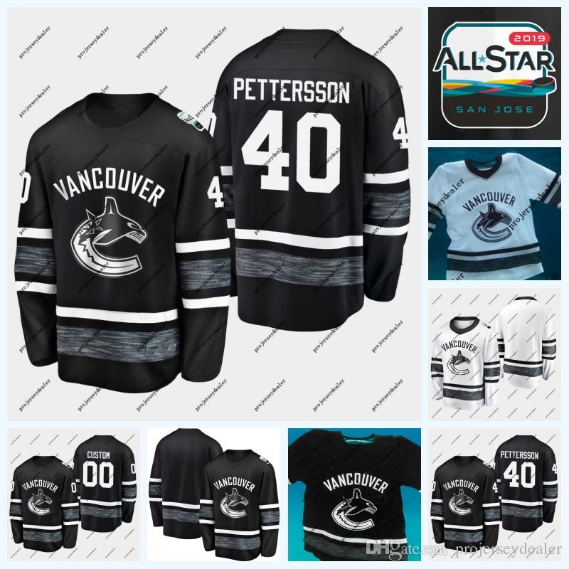 3d910add7be 2019 40 Elias Pettersson Vancouver Canucks 2019 All Star Game Hockey Jersey  6 Brock Boeser 53 Bo Horvat 77 Nikolay Goldobin 25 Jacob Markstrom From ...