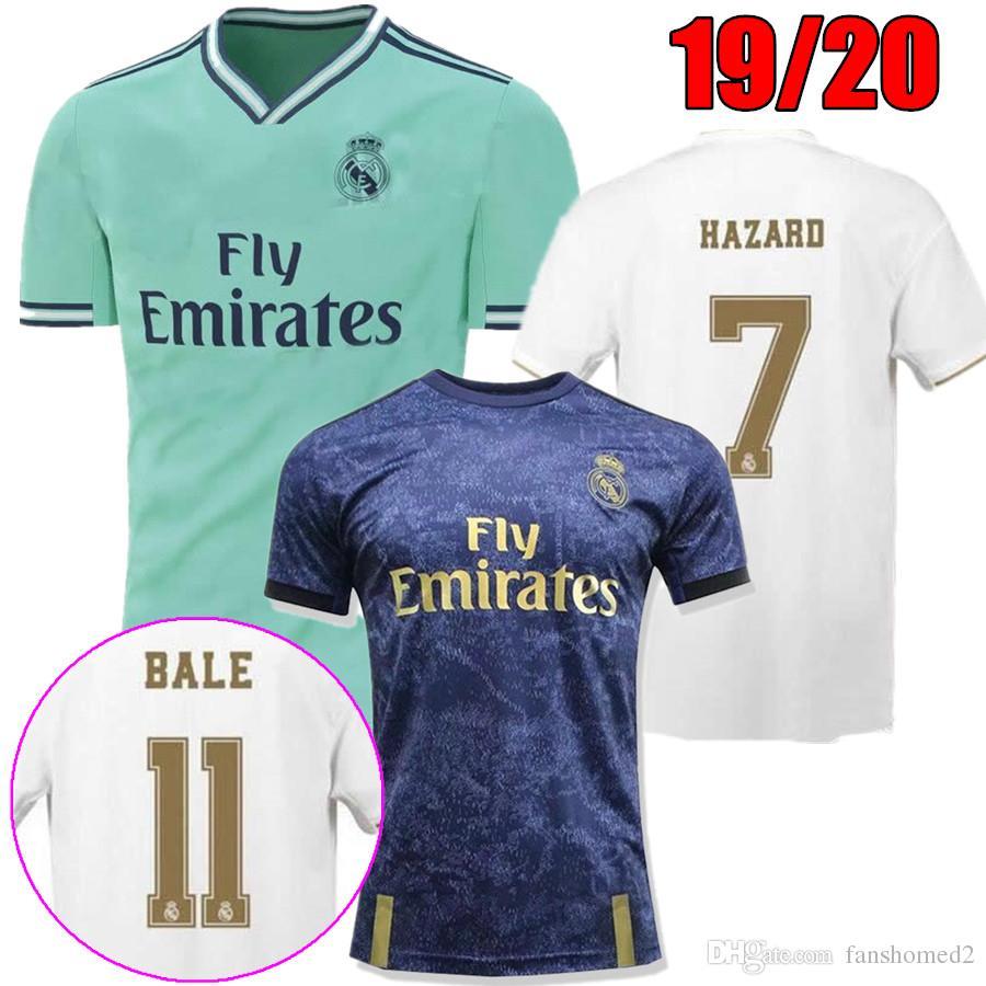 0d7a157551 2019 Real Madrid 7 # HAZARD EA Sports Soccer Jerseys 19/20 Local Visitante  MODRIC MARCELO 2020 3º VINICIUS JR ISCO ASENSIO Hombre Camisetas De Fútbol  Por ...
