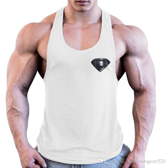 7b592c208fd57 2019 2019 Gym Best Bodybuilding Tank Top Men Stringer Singlet Fitness  Sleeveless Undershirt Muscle Vest Cotton Shirt Racerback From  Boblovesport520