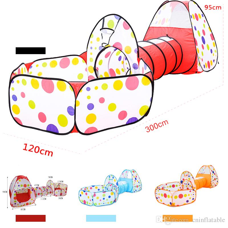 Multicolor foldable baby tent for kids toy children plastic house game piscina de bolinha play inflatable tent yard Ball Pool
