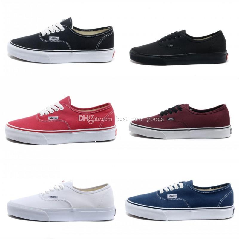 dd60df9d04 2019 2019 Vans Athentic Classic Old Skool Canvas Mens Skateboard Designer  Sports Running Shoes For Men Sneakers Women Casual Trainers From  Best new goods