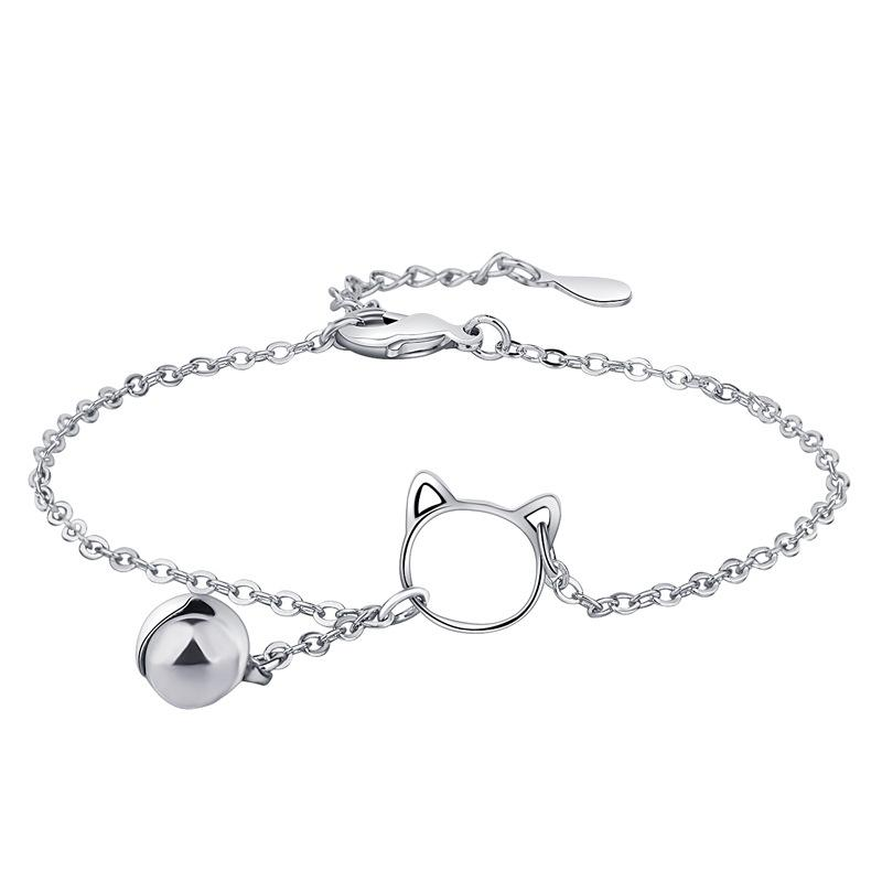 dae9cc9a85 2019 New Fashion Personalized Cat Bracelets For Girl Simple Metal beads  Charm Bracelet Jewelry Gift For Friend Wholesale