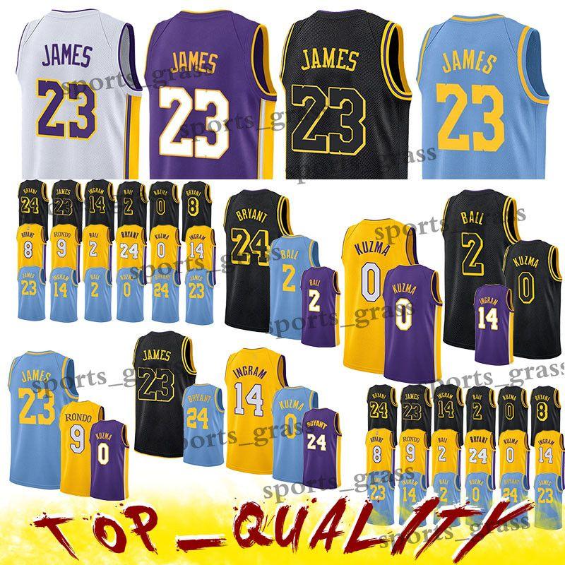 b8b146428 2019 Los Angeles 23 Lakers LeBron Jerseys James Brandon 14 Ingram Kobe 24  Bryant Kyle 0 Kuzma Lonzo 2 Ball Jersey From Sports grass
