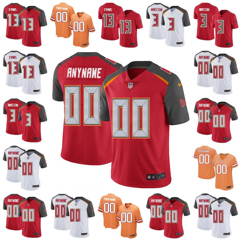 innovative design aaf61 af39b Custom Men Youth women Tampa Bay Devin White Mike Evans Jersey Buccaneers  Mike Alstott Brooks Jameis Winston O.J. Howard Ronde Barber