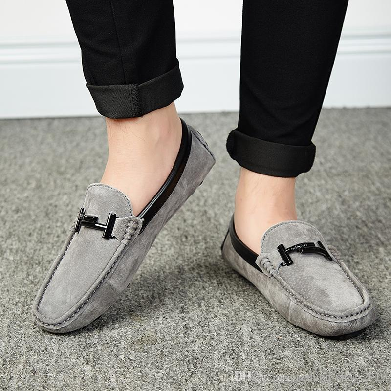 182b8180230da Plus Size Men'S Casual Boat Shoes Suede Leather Luxury Brand Loafers Slip  On Footwear Male Adult Soft Moccasins Chaussure Homme #166102 High Heel  Shoes Nude ...