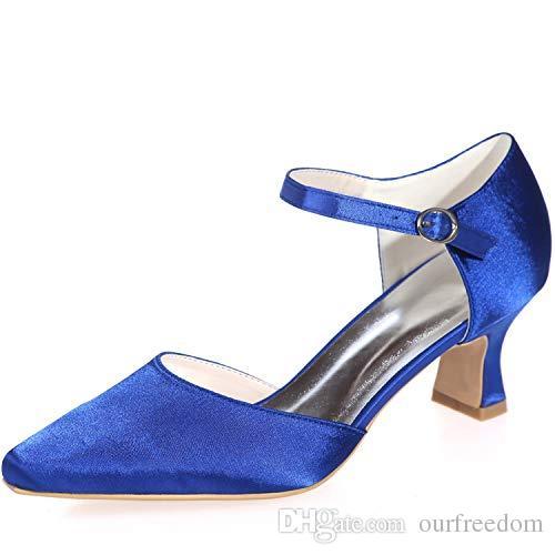 55d09425d8 Compre Nuevos Zapatos De Boda Para La Playa Clearbridal Satén De Las ...