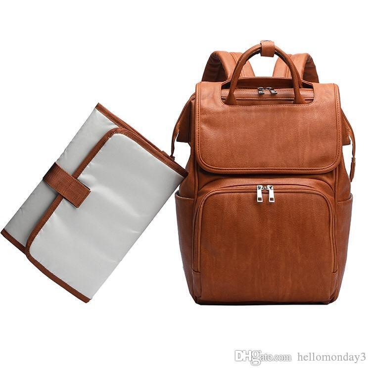 073d79ea9e Pannolino Zaino Fashion PU Leather Daddy Travel Spalle borse con ...