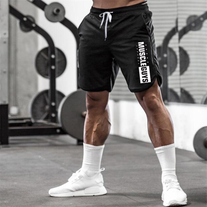 2ab87bce609d Marca para hombre Deportes Pantalones cortos para correr Fútbol  Entrenamiento pantalones cortos hombres gimnasio malla transpirable de  secado rápido ...