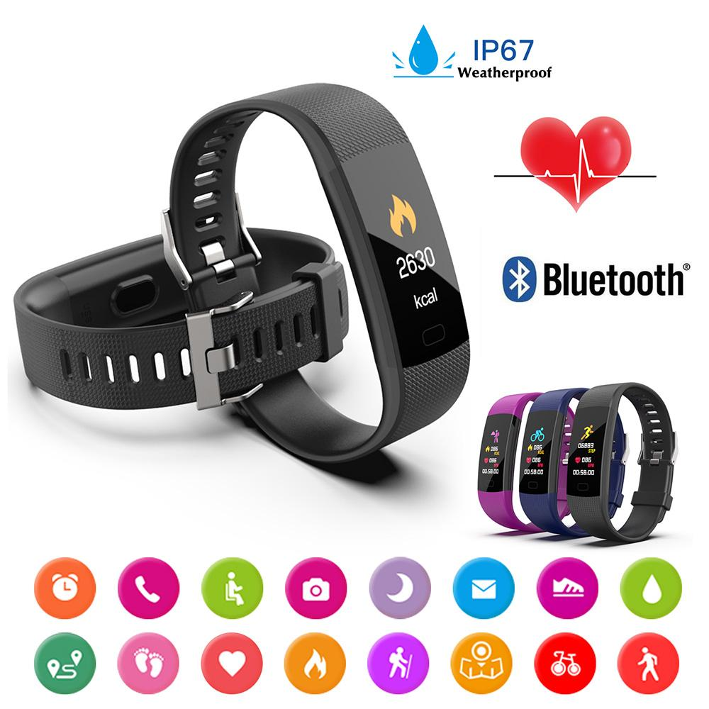 New Women Sport Waterproof Watch Blood Pressure Heart Rate Monitor Smart Watch Men Fitness Tracker Y3 Pedometer 2019