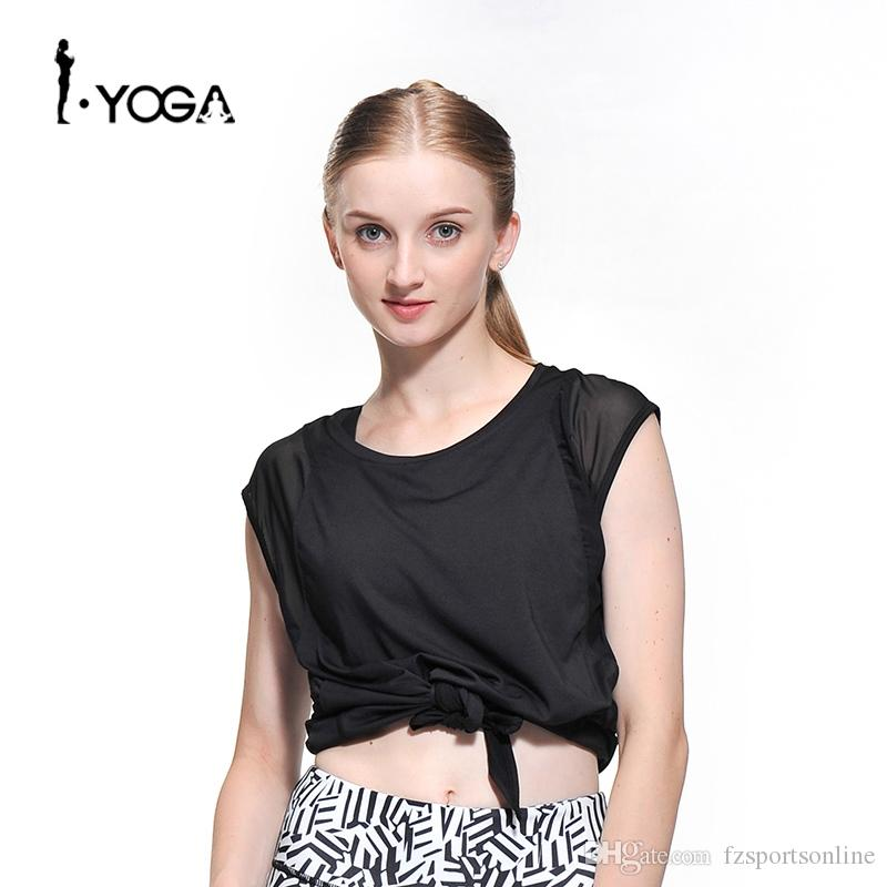 9bcfe2899e 2019 Fitness Active Sexy Yoga Sports Loose Vest Tank Top Workout Gym  Training Mesh T Shirt Running Clothes For Sport Women #347178 From  Fzsportsonline, ...