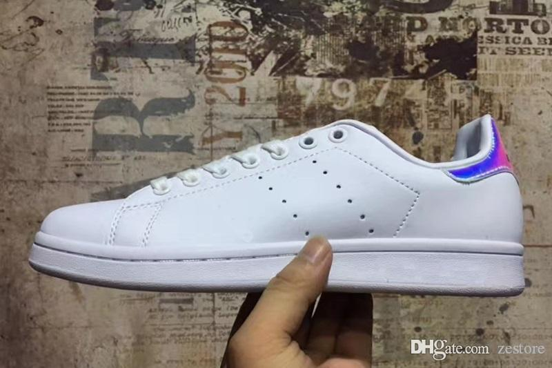 best sneakers 47831 bb533 2019 Raf Simons Stan Smith Spring Copper White Pink Black Fashion Shoe  Casual Leather Brand Woman Man Shoes Flats Sneakers 36 45 From Zestore, ...