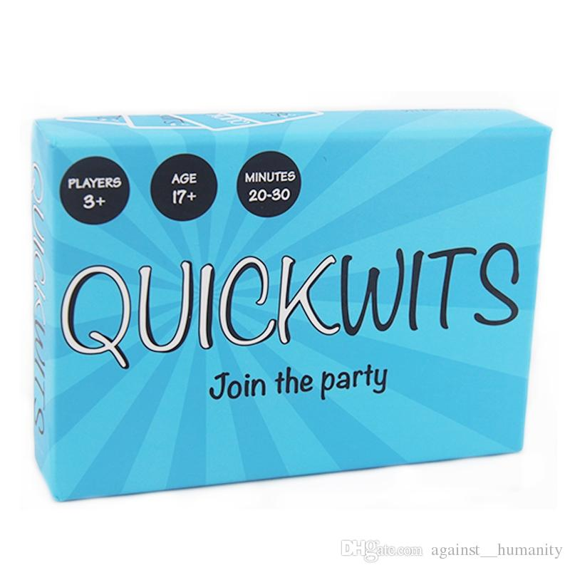 3 Styles Quickwits Adult Party Card Game A Fun and Social Adults Game Fast paced adult party game Trading Card Games