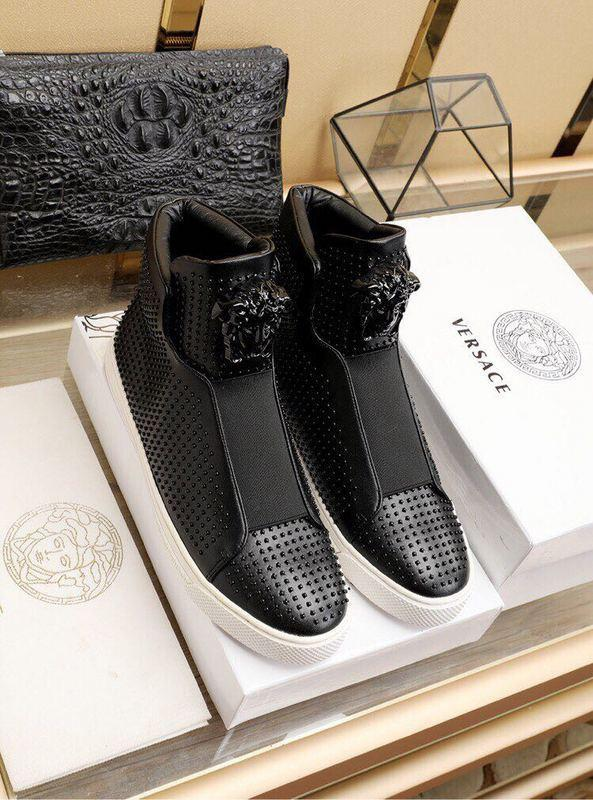 202202 Fashion New Rivet High-top Casual Shoes + Non-slip Wear-resistant Outsole Buckles Lace-ups Loafers Drivers Sneakers Shoes