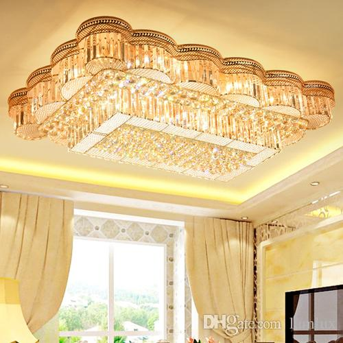 gold bedroom chandelier bed room modern crystal chandeliers lightings gold rectangle american chandelier lamp living room bedroom led ceiling lamps round lights designer
