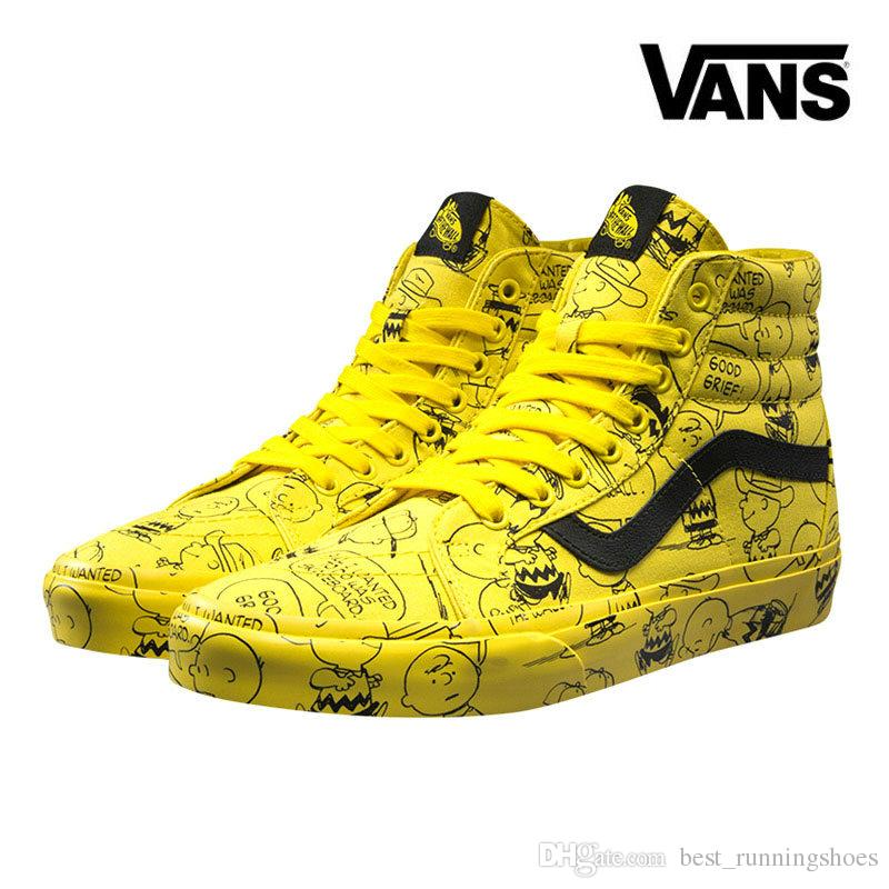 2019 Vans Old Skool Women Casual Shoes Rock Flame Yacht Club Sharktooth  Peanuts Skateboard Snoopy Canvas Zapatillas De Deporte Sports Sneakers From  ... 90e8269c0